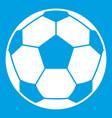 football soccer ball icon white vector image vector image