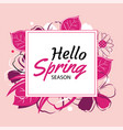 hello spring banner template with colorful vector image vector image