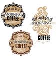 Hot fresh coffee showcase mockup