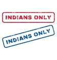 Indians Only Rubber Stamps vector image vector image