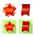 isolated object of emblem and badge logo set vector image vector image
