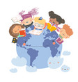 isolated with happy kids reading vector image