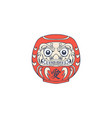 japanese daruma logo design vector image vector image