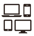 Laptop mobile phone tablet and monitor icon set