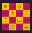 modern gadgets line icons pack vector image vector image