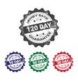 money back guarantee 100 percents label set vector image vector image