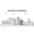 new mexico albuquerque architecture line skyline vector image
