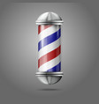 Old fashioned vintage silver glass barber shop vector image vector image