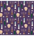 Old vintage candles pattern vector image vector image