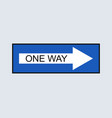 one way icon vector image