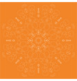 orange abstract linear rosette vector image vector image