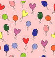 pattern with various colorful balloons vector image