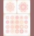 pink mandala laces set vector image