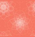 pink seamless pattern with floral mandala vector image vector image