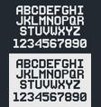 pixel retro font vector image