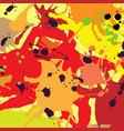 red orange maroon ink splashes background vector image vector image