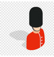 royal guardsman isometric icon vector image vector image