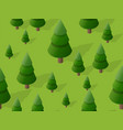 seamless forest fir tree pattern map background 3d vector image