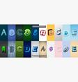 set of editable text effect design modern
