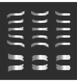 set silver ribbons on black vector image vector image