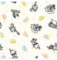 sexy beach cat seamless pattern vector image vector image