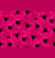 simple pink flower poppy seamless pattern vector image vector image