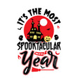 spooktacular time year halloween party shi vector image vector image