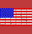 stars and stripes wall vector image