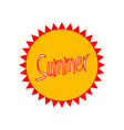 summer badge vector image
