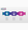 three infographic elements ribbons arrows vector image vector image