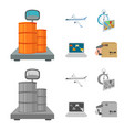 transport aircraft delivery on time computer vector image vector image