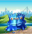 Two monsters in the city vector image vector image