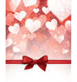 Valentine background with bow vector image vector image