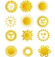 suns vector image