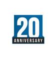 20th anniversary icon birthday logo vector image