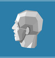 abstract human head stylized as a white vector image