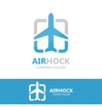 airplane logo design vector image