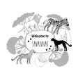 Background with savanna animals-02 vector image vector image