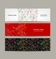 banners set abstract geometric design vector image vector image