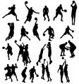 Basket ball silhouettes vector | Price: 1 Credit (USD $1)