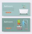 bathroom furniture interior with modern bathroom vector image