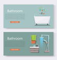 bathroom furniture interior with modern vector image