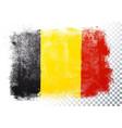 belgium flag icon in brushstroke texture vector image vector image