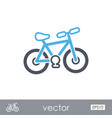 bicycle outline icon summer vacation vector image vector image