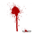 blood splatter elements on white background vector image