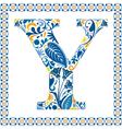 Blue letter Y vector image vector image