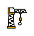 building crane icon on white background vector image vector image