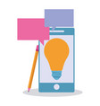 business and office technology vector image vector image