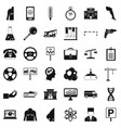 business instrument icons set simple style vector image vector image