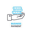 business payment concept outline icon linear vector image